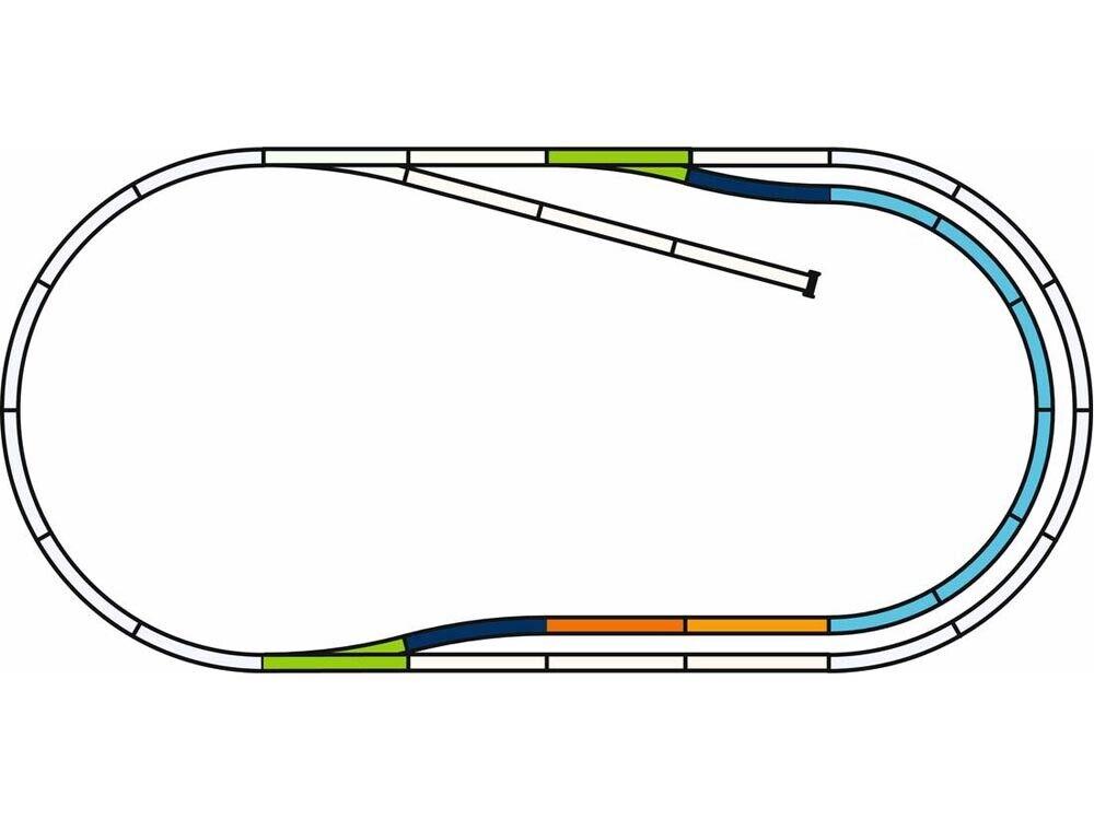 PIKO 55321 a-binario con zavorra Set C h0