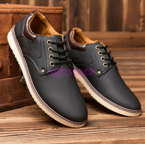 2019 Retro Mens England style Lace up Military Low top Round toe Casual shoes US