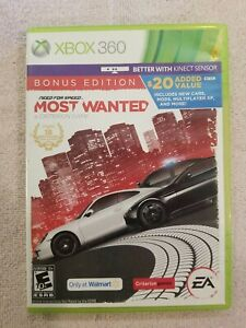 Need for Speed: Most Wanted Bonus Edition (Microsoft Xbox 360, 2012) NO MANUAL