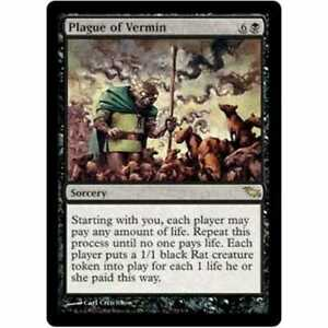 Plague of Vermin Shadowmoor Rare Magic the Gathering MTG Played Condition