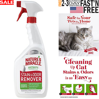 Cat Stain And Odor Remover Cleaner Enzymatic Formula Gatos