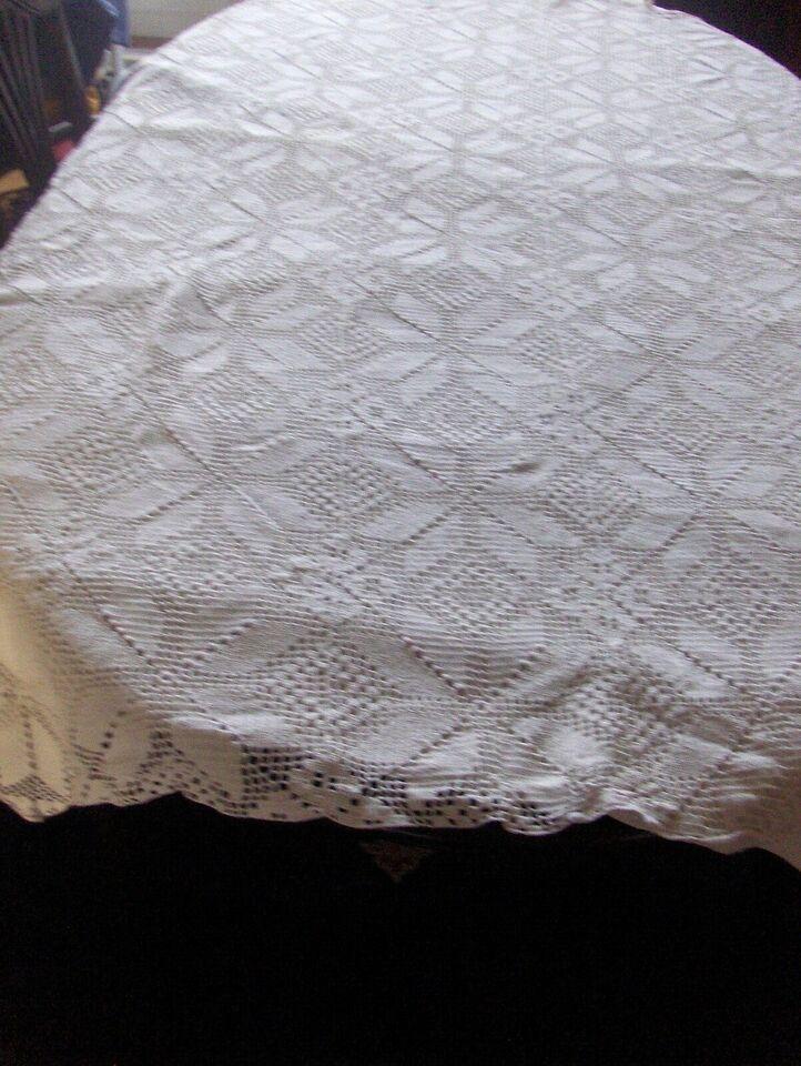 Sengetæppe, bomulds garn, håndarbejde
