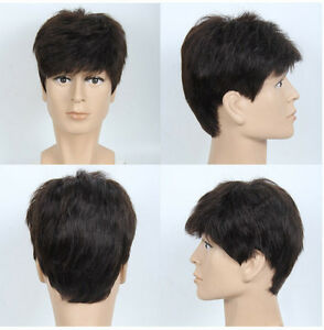 Details about 2017 real Human Hair Toupee
