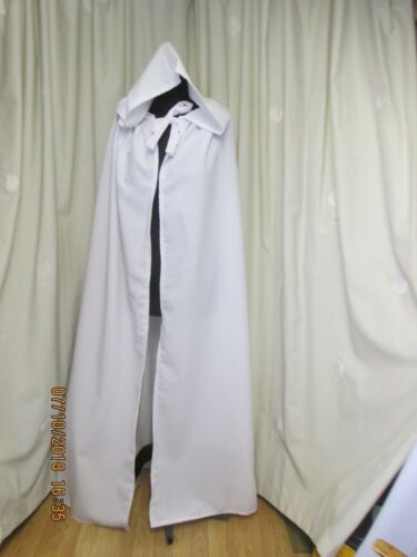 FANCY DRESS UK MADE LARGE WHITE  HOODED CAPE//CLOAK HALLOWEEN GANDOLPH
