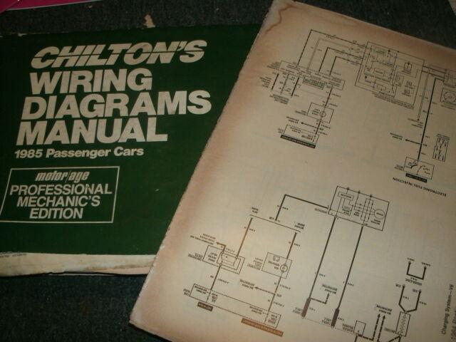 1985 Ford Tempo Mercury Topaz Wiring Diagrams Schematics Sheets Set