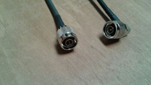 50 ohm ANDREW  LMR-240   N male R//A to N male Jumper Pigtail Cable   3 FT