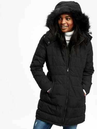 NWT OLD NAVY Women/'s Frost Free Hooded Jacket Coat Bomber Puffer