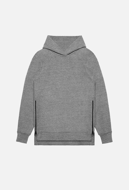 John Elliott Hooded Villain Hoodie Sweatshirt Dark Grau Side Zip 2 M