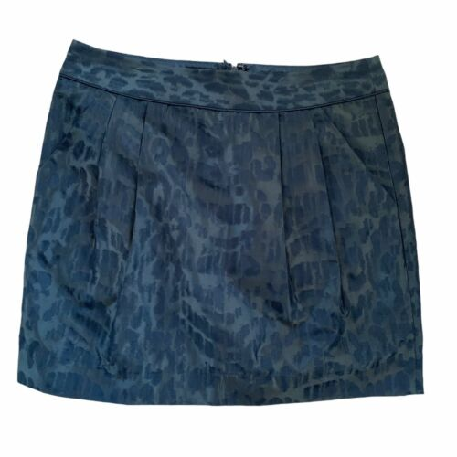 Gap Olive Green and Black Leopard Print Mini Skirt