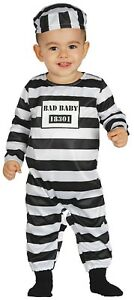 Baby-Girls-Boys-Prisoner-Convict-Halloween-Fancy-Dress-Costume-Outfit-6-18-mth