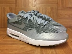 67dda684499e RARE🔥 Nike Air Max 1 Ultra Flyknit Wolf Gray Oreo Sz 10.5 843384 ...