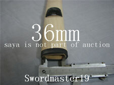 1 Set of Big Buffalo Horn Kurikata Kojiri Koiguchi for 35 - 36 mm Habaki Katana