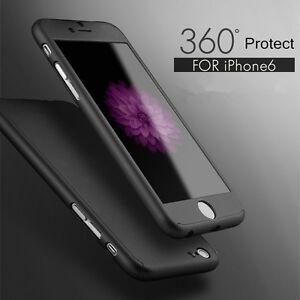 For iPhone 6 6S 7 Plus 360° Full Hybrid Tempered Glass + Acrylic Hard Case Cover