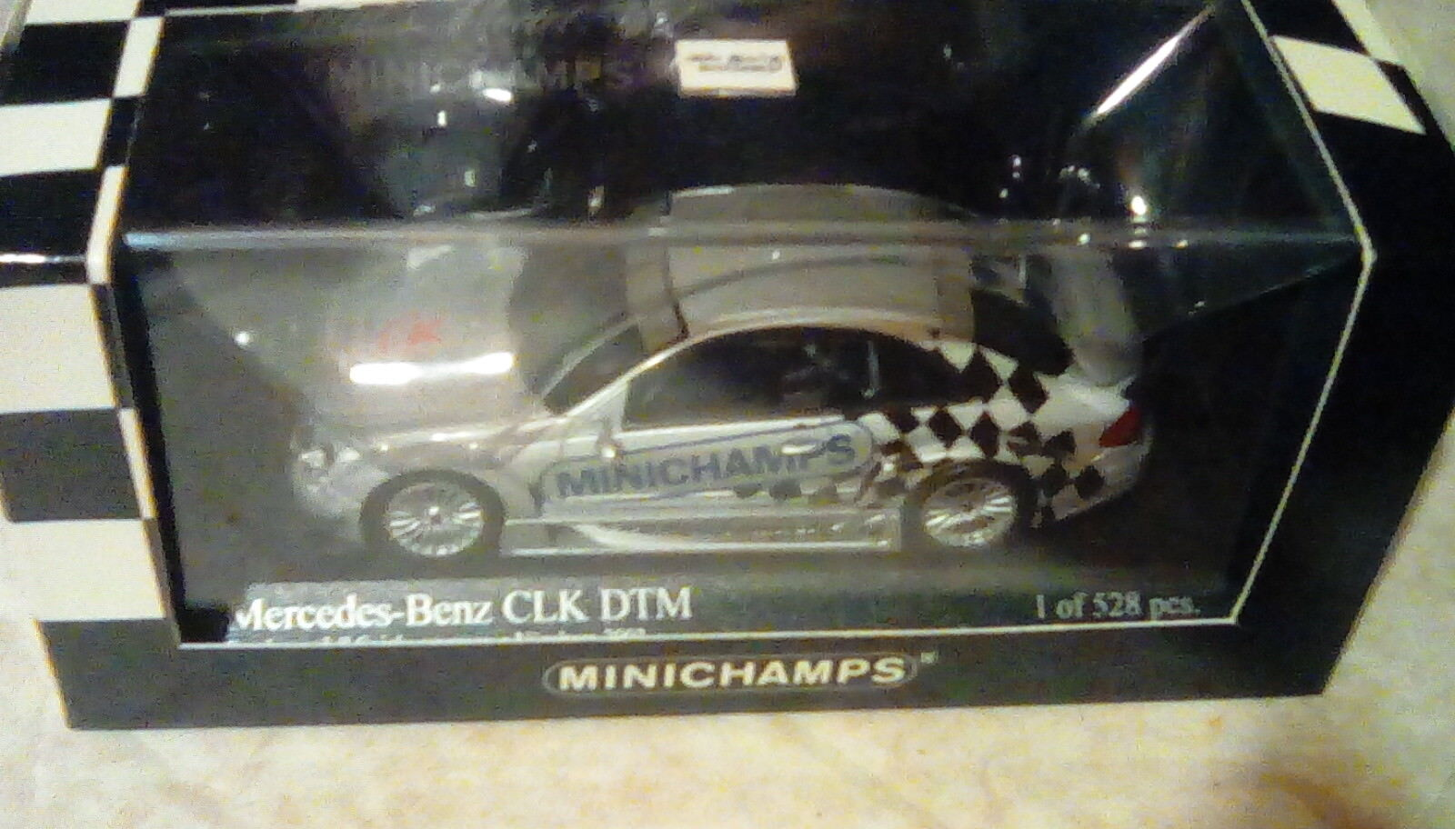 Escaso Minichamps Mercedes CLK DTM messemodell Nuremberg Toyfair 1 43 1 528 2003