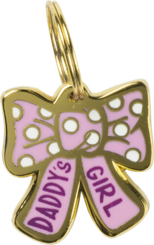"""Primitives by Kathy Pet Collar Charm — Daddy/'s Girl Bow Shaped Charm 0.7/"""" x 0.7/"""""""