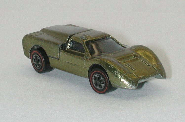 Redline Hotwheels Olive 1968 Ford J Car oc11280