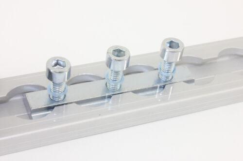 10 x Nutenstein Nutensteine mit 3 x M6 Gewinde für Airlineschiene Zurrschiene