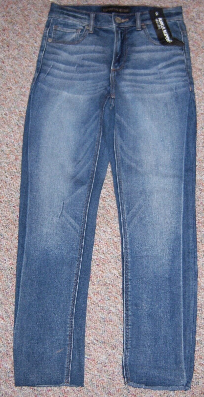 EXPRESS bluee Denim High Rise Ankle Super Skinny Jeans Size 2 Inseam 28 NWT