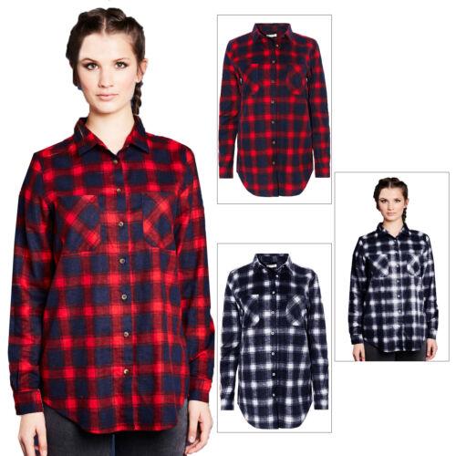 Brave Soul Billie Womens Cotton Long Sleeved Lumberjack Check Patterned Shirt