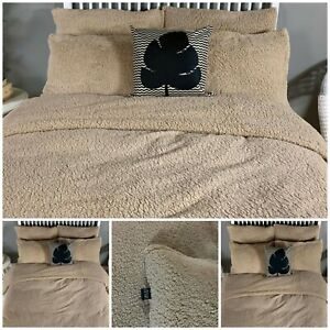 Oso-de-peluche-ropa-de-cama-cubierta-del-edredon-edredon-extra-Peludo-Calido-esponjosas-amp-Cosy