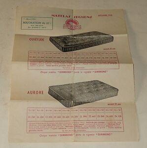 Depliant-publicitaire-Matelas-SIMMONS-1er-Mars-1951-Modeles-QUIETUDE-AURORE