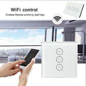Wifi Curtain Switch Panel Smart Switch Work With Google Home Alexa Support APP