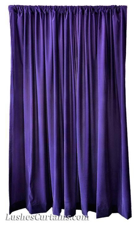 Violet Rideaux 216-inch Extra Haute Rideaux Violet Velours Panneau Long Sur ComFemmede Designer 70db7b