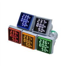 Ac0 100a 60 500v 22mm 3 In 1 Led Digital Voltmeter Ammeter Hertz Meter Indicator
