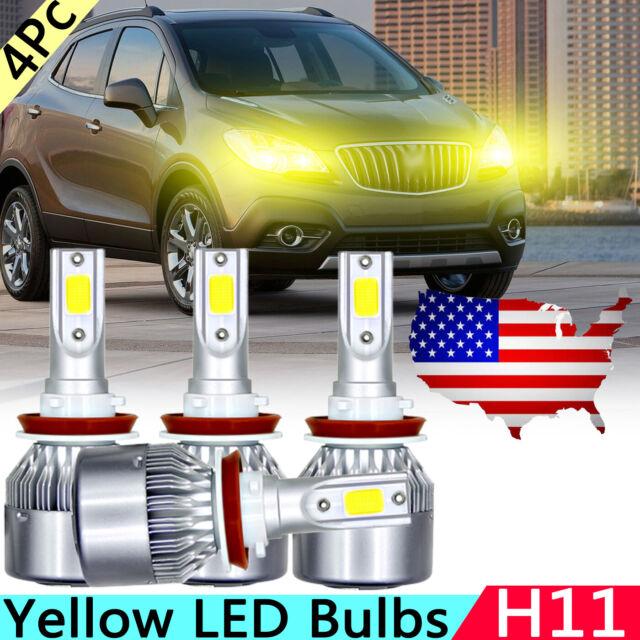 H11 H8 Yellow LED Headlight High Low Beam Fog Bulbs For ...