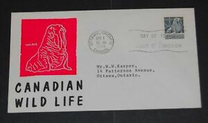 Canada-1954-walrus-FDC-hot-pink-cachet