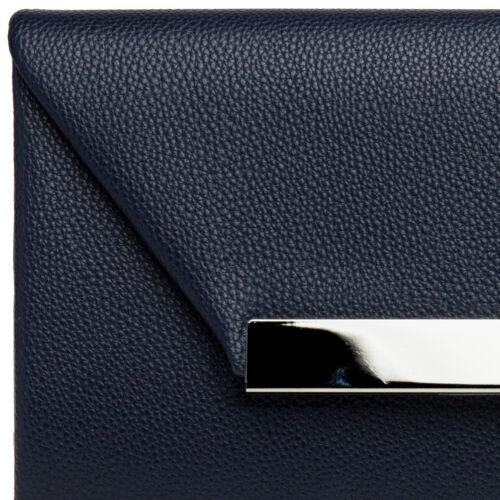 CASPAR TA419 Pochette enveloppe XL pour femme Sac de soirée imitation cuir