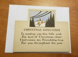 Norcross-Signature-1910s-1920s-Vintage-Antique-Christmas-Card-House-Unused