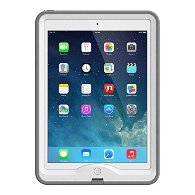 check out 1d802 add3a Waterproof LifeProof Nuud Case for Apple iPad Air 1 White Gray