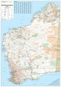 (LAMINATED) SUPER MAP OF WESTERN AUSTRALIA 100x140cm WA STATE GIANT POSTER WALL 9781865008882