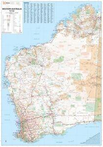 Wa Australia Map.Laminated Super Map Of Western Australia 100x140cm Wa State Giant