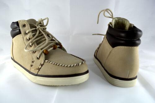 Schnüren Damen Schuhe Stiefeletten Boots Sneaker Turnschuhe Gr.36-41 Beige A.617