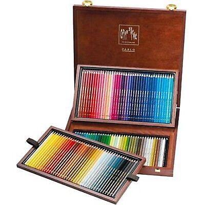 Caran D'ache Pablo Coloured Pencil 120 Colour Wooden Box Set