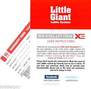 little giant revolution xe ladder user instructions how to operate rh ebay com giant propel owners manual giant owners manual
