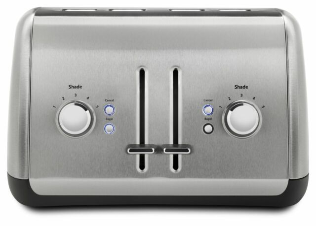 KitchenAid 4 Slice Metal Toaster - Manual Lift (KMT4115SX)