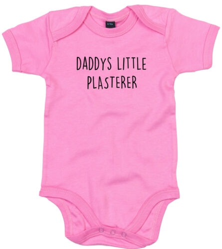 PLASTERER BODY SUIT PERSONALISED DADDYS LITTLE BABY GROW GIFT