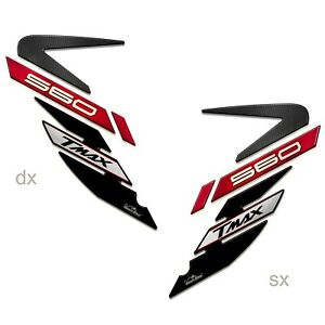 Stickers 3D Guards Side 01 Compatible With YAMAHA TMAX 560 2020 Red