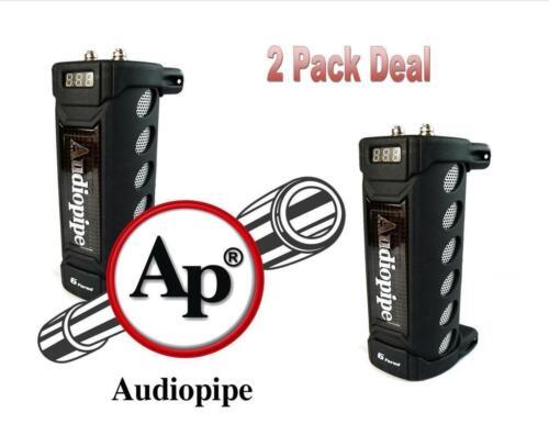 2 Pack Audiopipe ACAP-6000 6 Farad Digital Power Capacitor Car Audio Amplifier