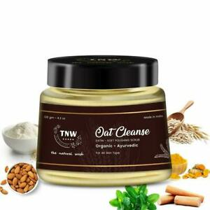 TNW THE NATURAL WASH Oat Cleanse Organic Ayurvedic Scrub For Face & Body 120 g