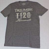 Triumph Short Sleeve Gray Graphic T-shirt Medium L1049