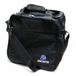 Bowling-Ball-Tasche-Ebonite-Escort-black-Bag-Platz-fuer-Bowlingschuhe