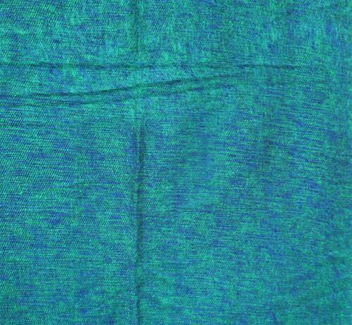 Over-SizedTeal /& Blue /& Black Yak Wool Blend Blanket//Throw Nepal Handmade