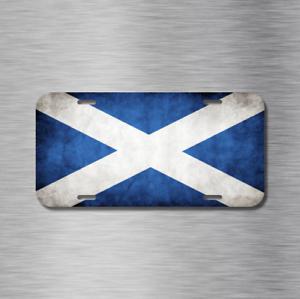 Scotland Flag Scottish Edinburgh Glasgow Vehicle License Plate Front Auto Tag