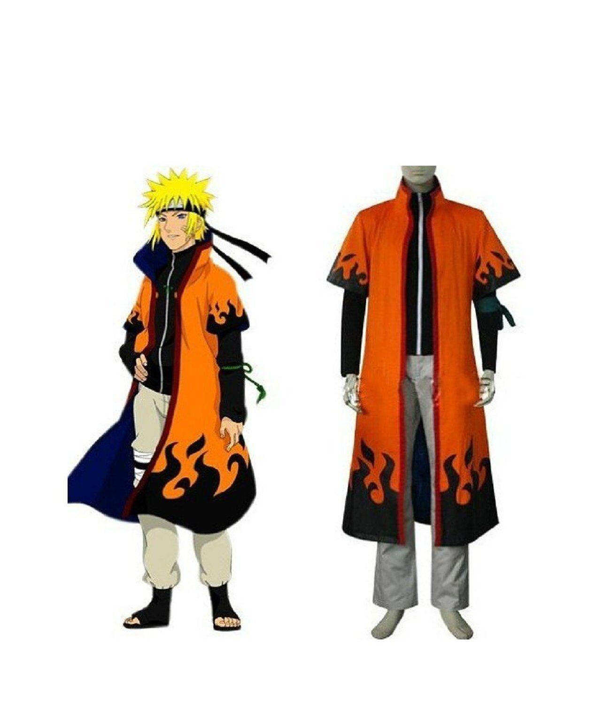 Naruto 6th Leaf Village Hokage Naruto Uzumaki Cosplay Costume Robe