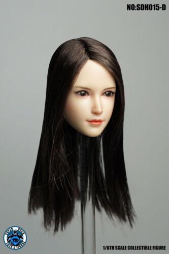 1/6 SUPER DUCK SDH015 D Head Sculpt Carved Model F 12 Female Body