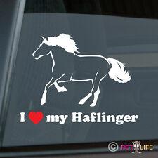 I Love my Haflinger Sticker Die Cut Vinyl Ver 2 Avelignese Horse